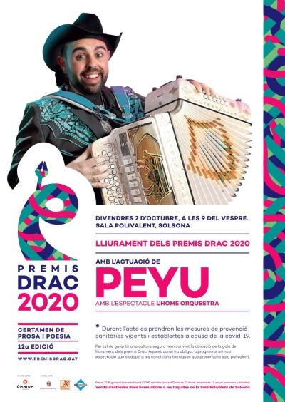 XII Premis Drac 2020 amb l'espectacle d'en Peyu: L'home orquestra